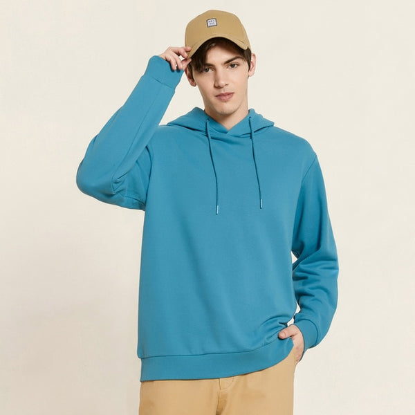 Metersbonwe Autumn And Winter new  Multicolor comfort Sweatshirt men  Plus Velvet Knit Solid color Hooded Hoodies