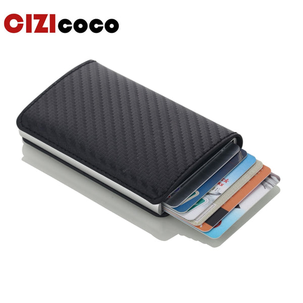 Men Credit Card Holders Business ID Card Case Fashion Automatic RFID Card Holder Aluminium Bank Card Wallets