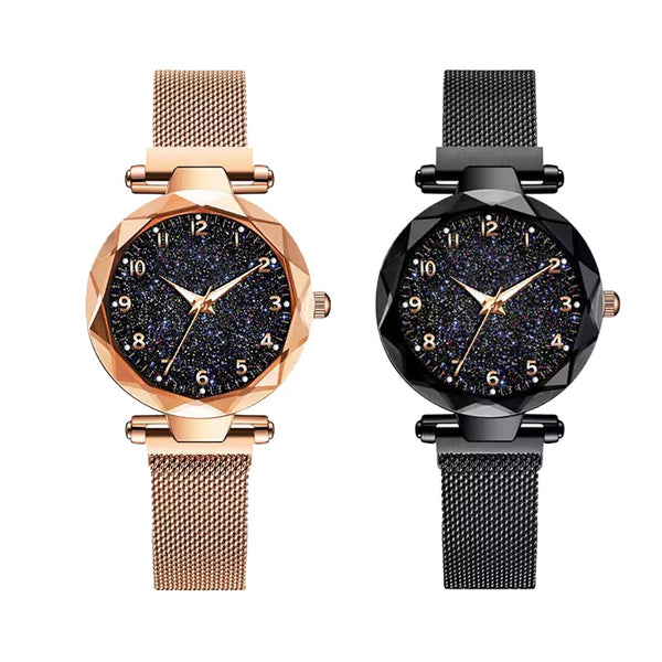 Watch For Women Fashion Luxury Magnet Buckle