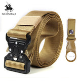 Nylon Tactical belt Military high quality men's training belt metal multifunctional buckle outdoor Battle sports new Alloy