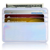 TRASSORY Small Mini Travel Lizard Pattern Leather Bank Business Id Card Holder Wallet Case For Men Women With Id Window