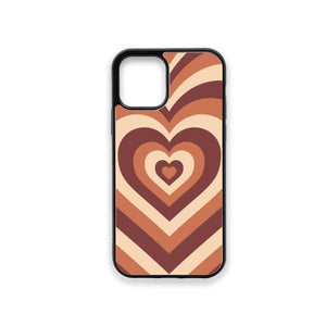 Brown Hearts Phone Case
