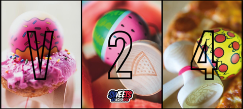 Sweets Kendamas France Sweets Paint lab custom V24 summer Donuts , Pizza , Watermelon pastèque