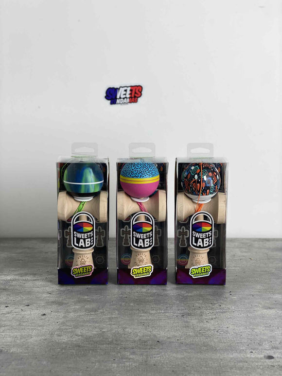 Sweets Kendamas FR - SHOP: Pack Kendamas Custom V26 (Full Collection) Bilboquet Kendama France Sweet Fresh 90s Textile space Nothern Lights