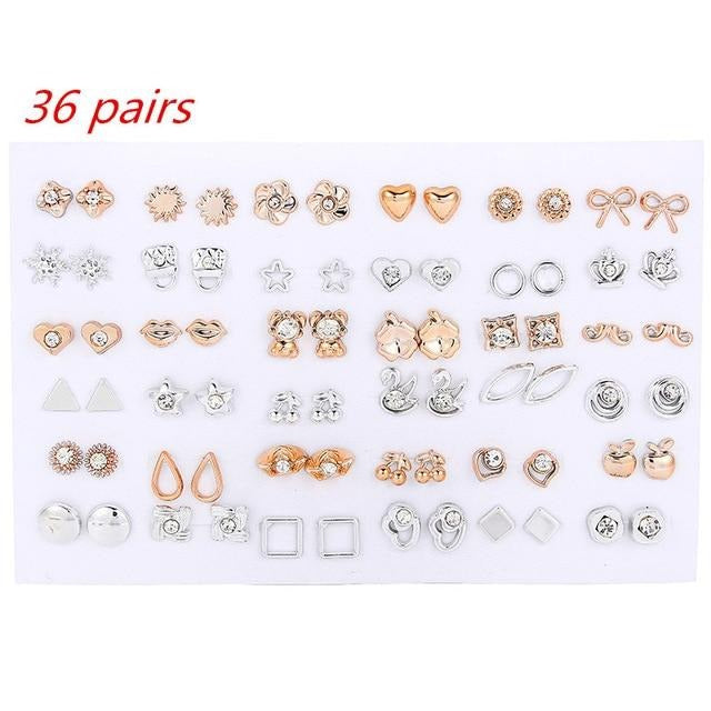 '' 36Pairs Earrings Mixed ''