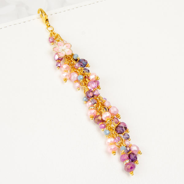 Sakura Planner Charm Dangle Pink, Purple Gold