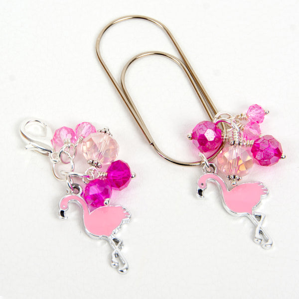 Flamingo Dangle Planner Clip or Charm