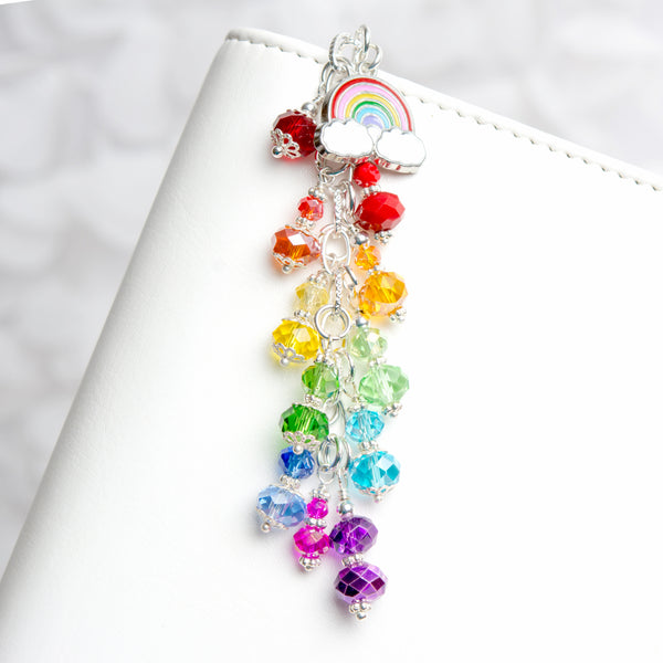 Rainbow Planner Charm with Rainbow Charm and Dangle