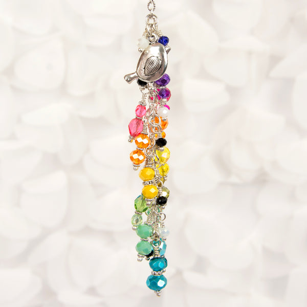 Cute Bird Charm with Rainbow Dangle - coordinates with Cocoa Daisy New Chapter kit