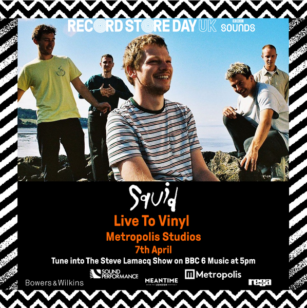 Squid to record brand new Record Store Day release live from Metropolis Studios