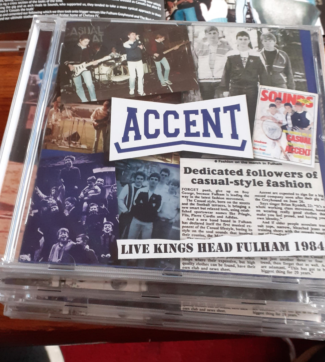Accent - Live at The Kings Head, Fulham - CD