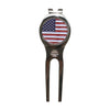 Image of Divot Tool with Magnetic Ball Marker - Nickel (American Flag)