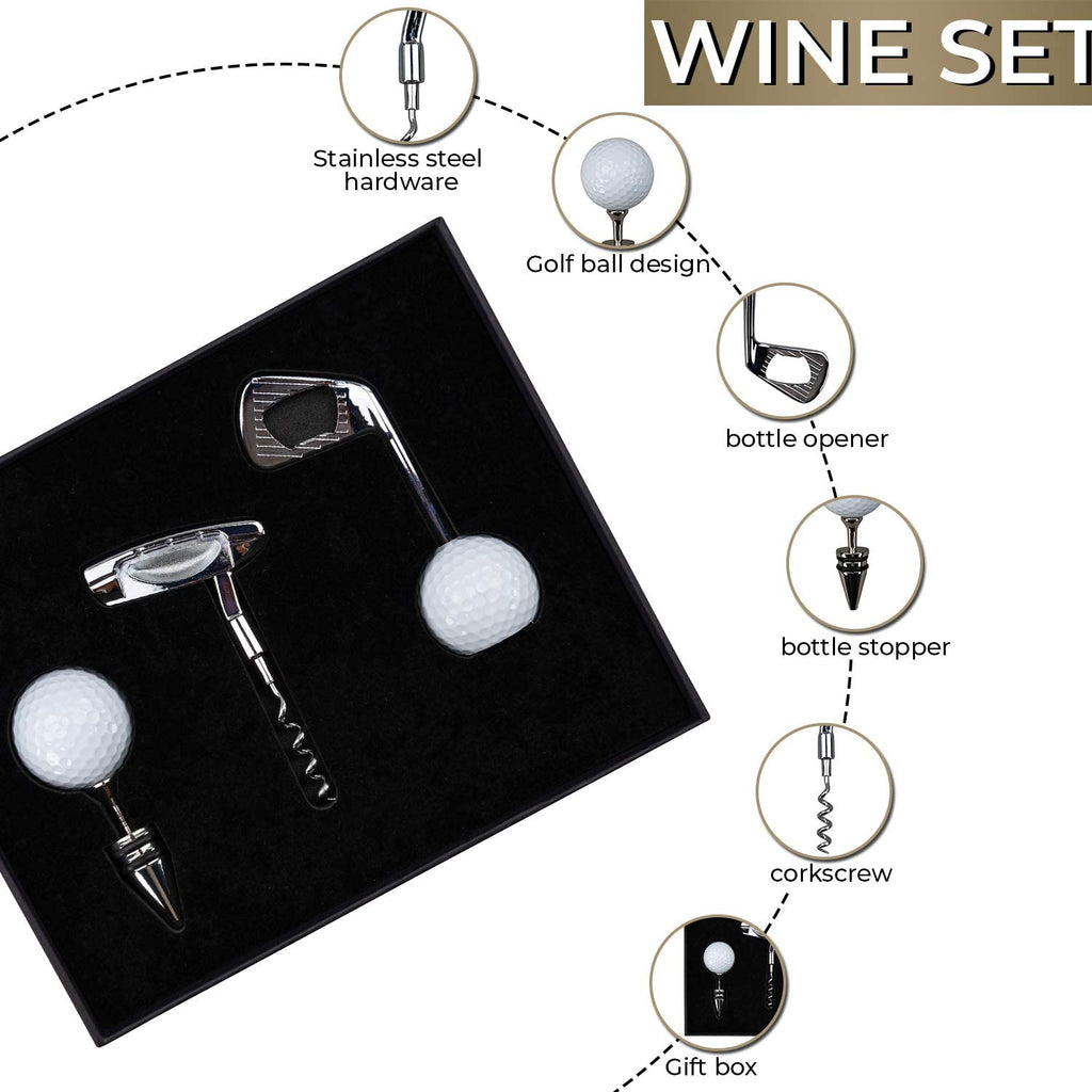 Golf Lovers Wine Gift Set