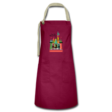 Load image into Gallery viewer, Artisan Apron - burgundy/khaki
