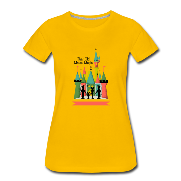 That Old Mouse Magic - Women's Premium T-Shirt - sun yellow