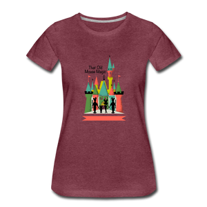 That Old Mouse Magic - Women's Premium T-Shirt - heather burgundy