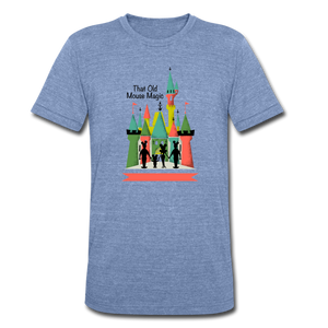 That Old Mouse Magic - Tri-Blend T-Shirt - heather Blue