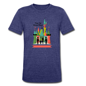 That Old Mouse Magic - Tri-Blend T-Shirt - heather indigo