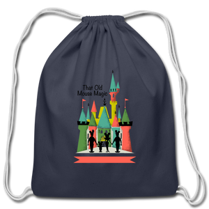 That Old Mouse Magic - Cotton Drawstring Bag - navy