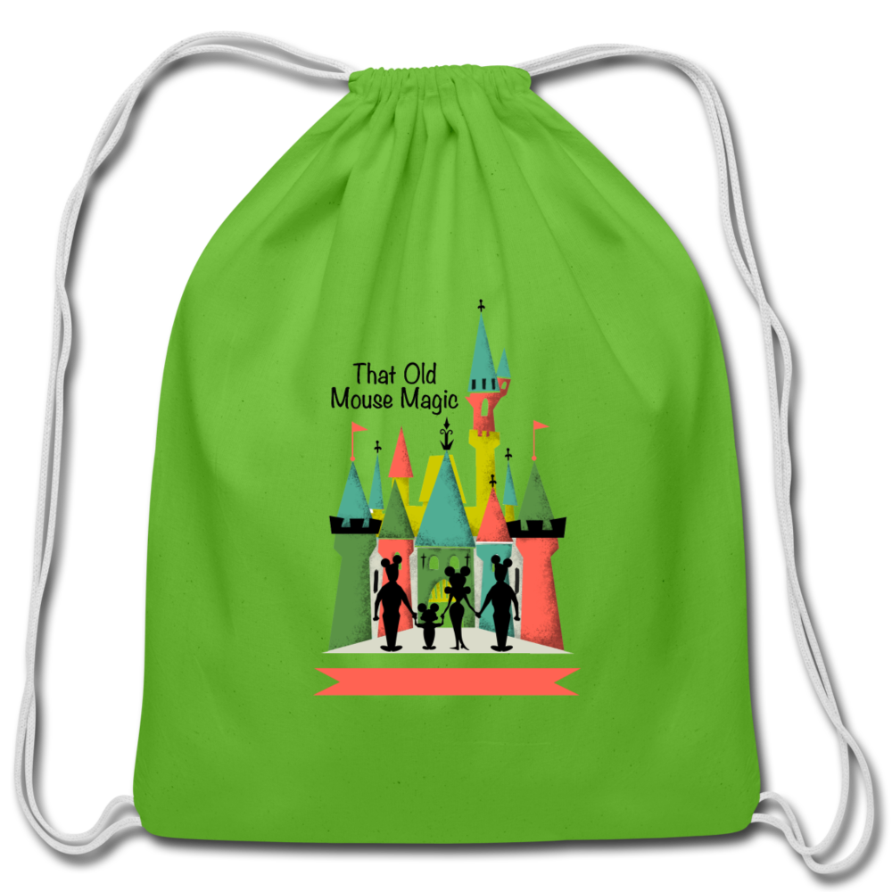 That Old Mouse Magic - Cotton Drawstring Bag - clover
