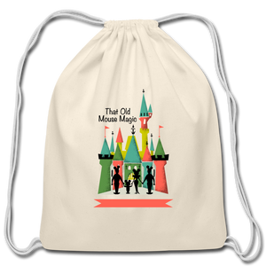 That Old Mouse Magic - Cotton Drawstring Bag - natural
