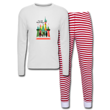Load image into Gallery viewer, Unisex Pajama Set - white/red stripe