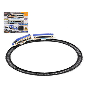 Train met circuit 118224 Blauw Wit