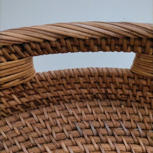 Rattan Brown Round Trays