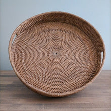 Load image into Gallery viewer, Rattan Brown Round Trays