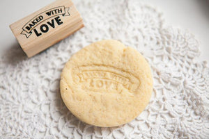 Baked with Love' Rubber Stamp