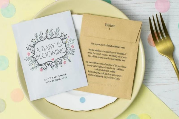 Blooming' Baby Shower Seed Packet Favours