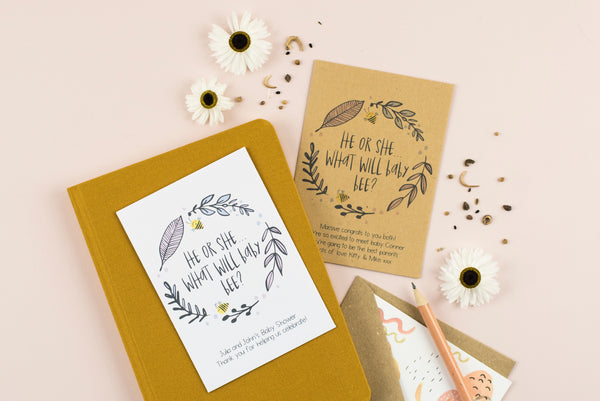 What Will Baby Bee Personalised Wildflower Seed Packet