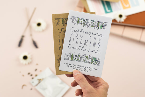 Blooming Brilliant Personalised Wildflower Seed Packet