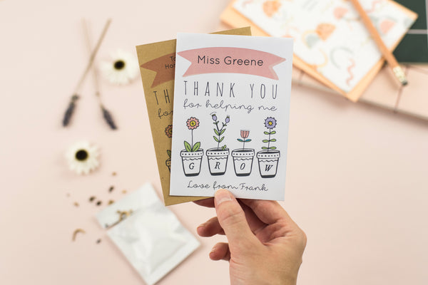 Thank You Teacher Personalised Seed Packet Gift