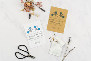 Dainty Forget Me Not Seed Memorial Gift