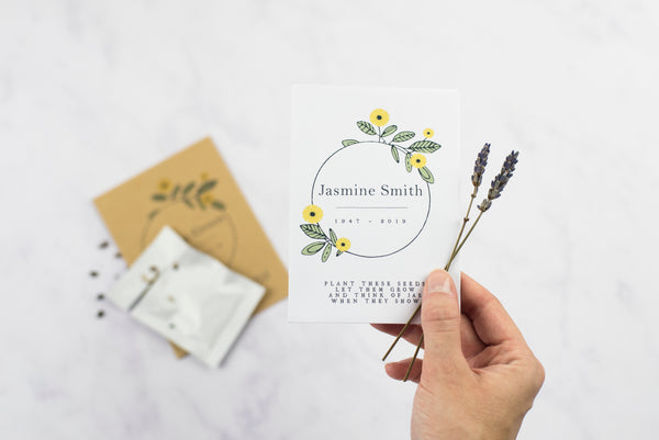 Sunflower Wreath Seed Packet Memorial Gift