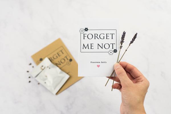 Forget Me Not Seed Memorial Gift