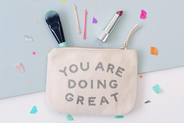 You Are Doing Great' Little Canvas Pouch