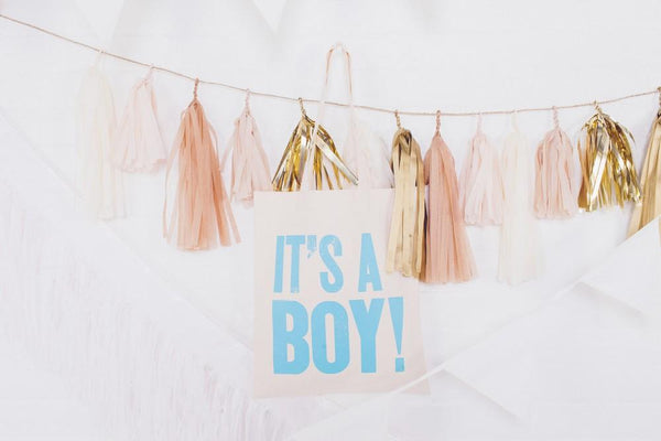 It's a Boy!' Cotton Tote Bag