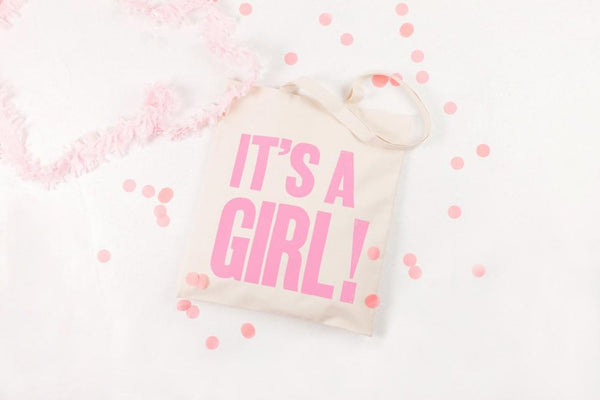 It's a Girl!' Cotton Tote Bag
