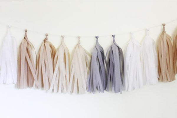 Natural Tissue Paper Tassel Garland Kit