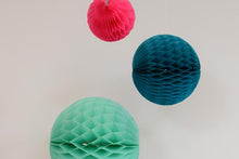 Set of 3 Ocean Tissue Paper Honeycomb Balls