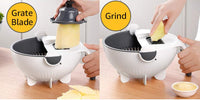 Mandoline Vegetable Slicer/Grater with Strainer and automatic rotator