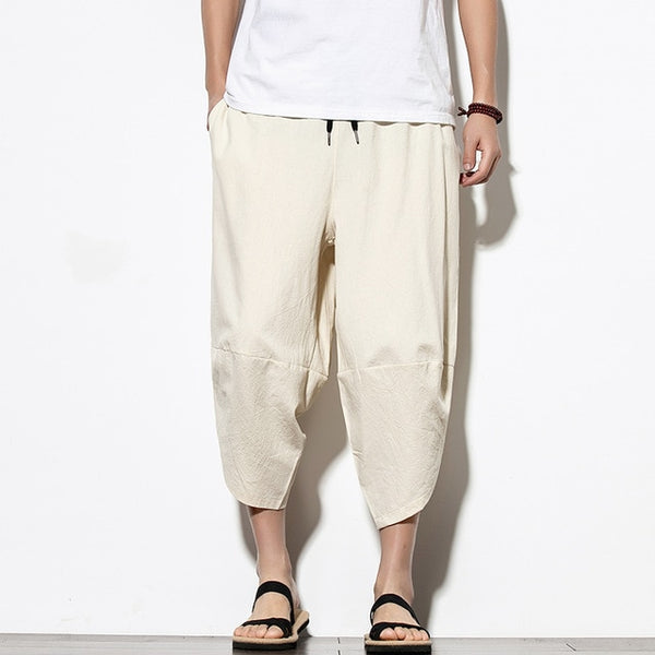 Cotton Drawstring Harem Hip Hop Trousers
