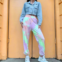 High Waist Soft Tie Dye Sweatpants
