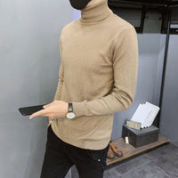 Men's Turtleneck Knitted Pullovers