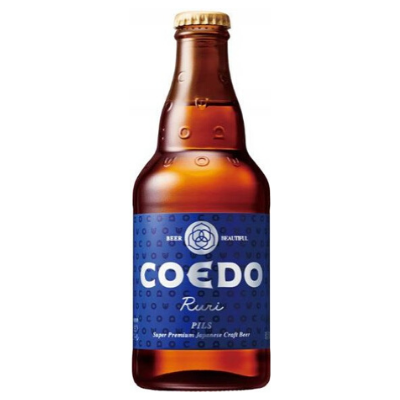 Coedo 'Ruri' Pilsner Beer, Japan Case (6x333ml)