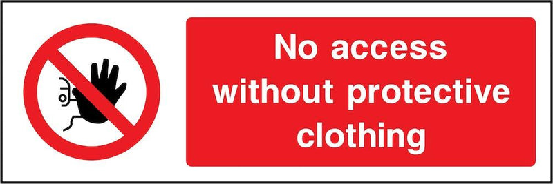 No Access Without Protective Clothing Sign | Elevate Signs