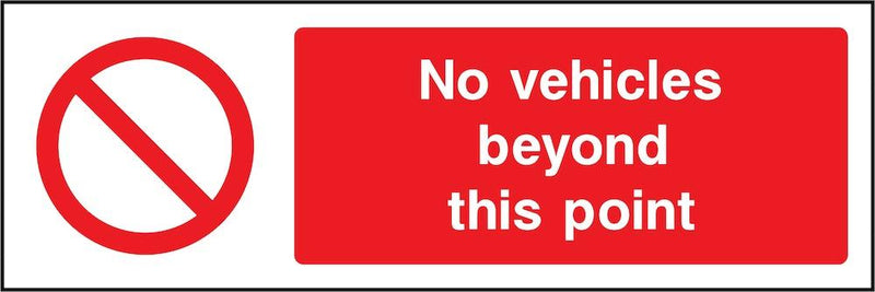 No Vehicles Beyond This Point Sign | Elevate Signs
