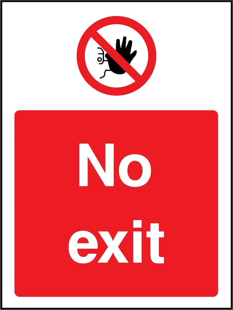 No Exit Sign | Elevate Signs